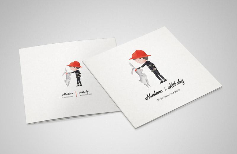Zaproszenie ślubne projekt graficzny